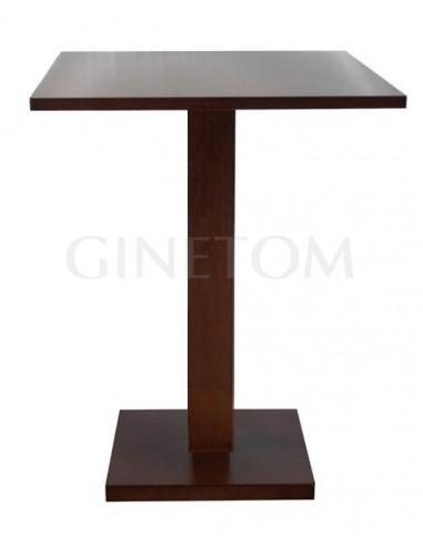 Mesa alta pie central madera 852 color nogal