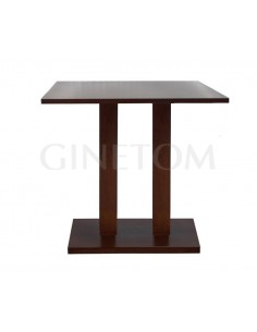 Mesa madera pie central doble ref 853
