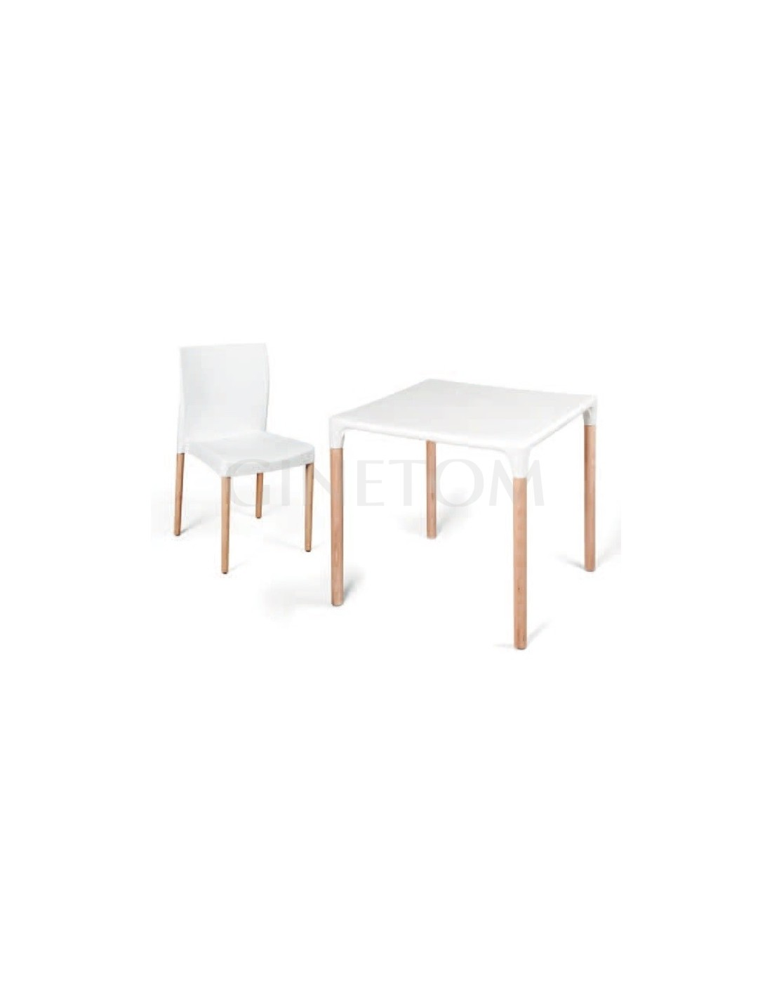 Sillas de madera monaco y mesa a juego sillas hosteler a for Mesa 70x70 madera