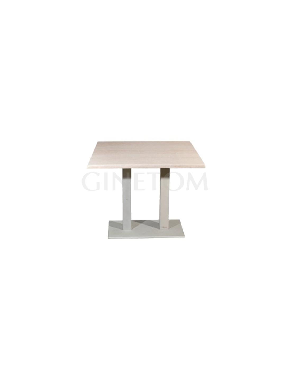 Mesa hosteleria metalica pie doble mesas para hosteleria - Mesas para hosteleria ...