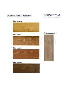 Silla industrial Montana en metal y madera