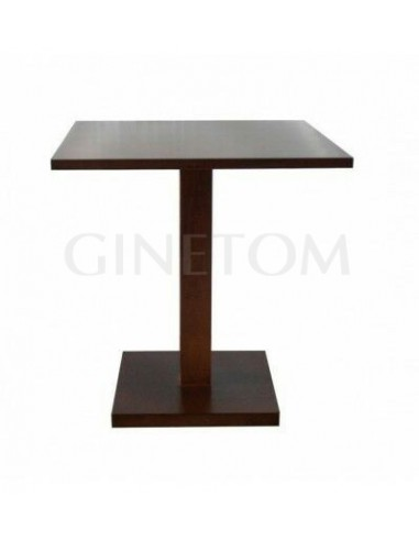 Mesa de madera pie central ref 850