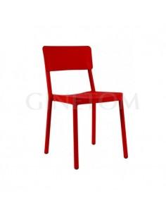 Silla plástico Lisboa Resol color rojo