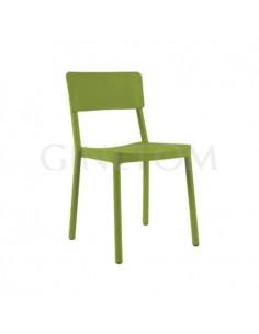 Silla plástico Lisboa Resol color verde