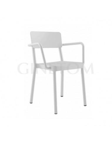 Silla Lisboa Resol con brazos plástico color blanco