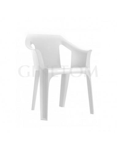 Silla de plastico Cool para terraza color blanco