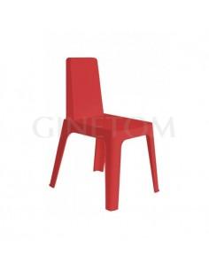 Silla Julia Resol plástico rojo