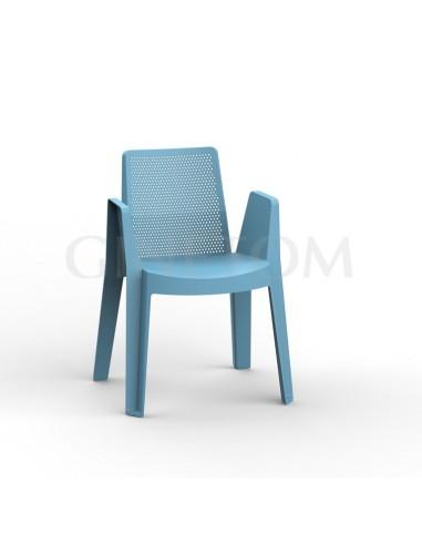 Silla Play Resol para terrazas color azul retro