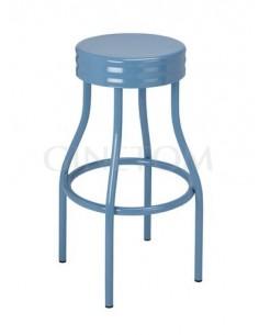 Taburete Industrial Liverpool Acero color azul