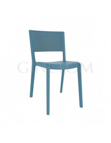 Silla Spot Resol polipropileno color azul retro para hostelería