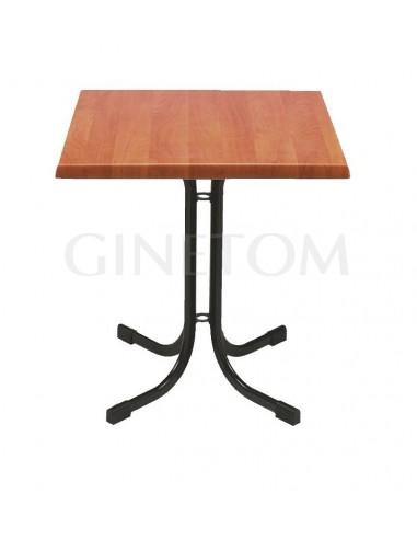Mesa pie central menorca con tablero werzalit