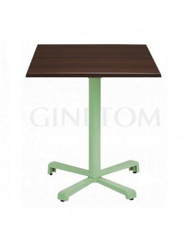 Mesa pie central aluminio Altea con tablero werzalit