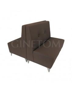 Sofa tapizado doble modelo Jumilla con pata metalica