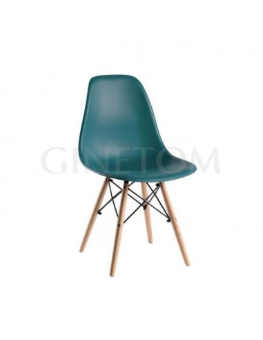 Silla Eames hostelería económica verde azulado