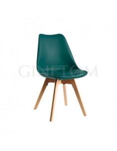 Silla Maine vintage hostelería plástico color verde azulado