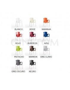 conjuntos terraza colores para sillas