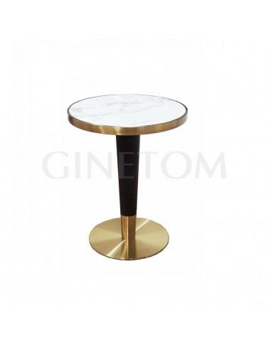 Mesa de marmol conica para cafeterias