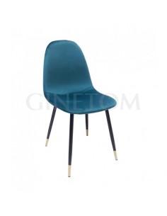 Silla terciopelo Amalfi color verde azulado