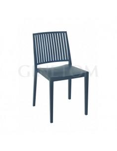 Silla de plastico Marbella color azul petroleo para terrazas