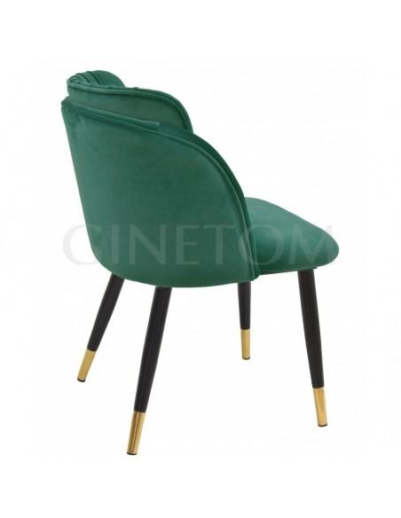 Silla Diseño velvet comedor Glamm  verde