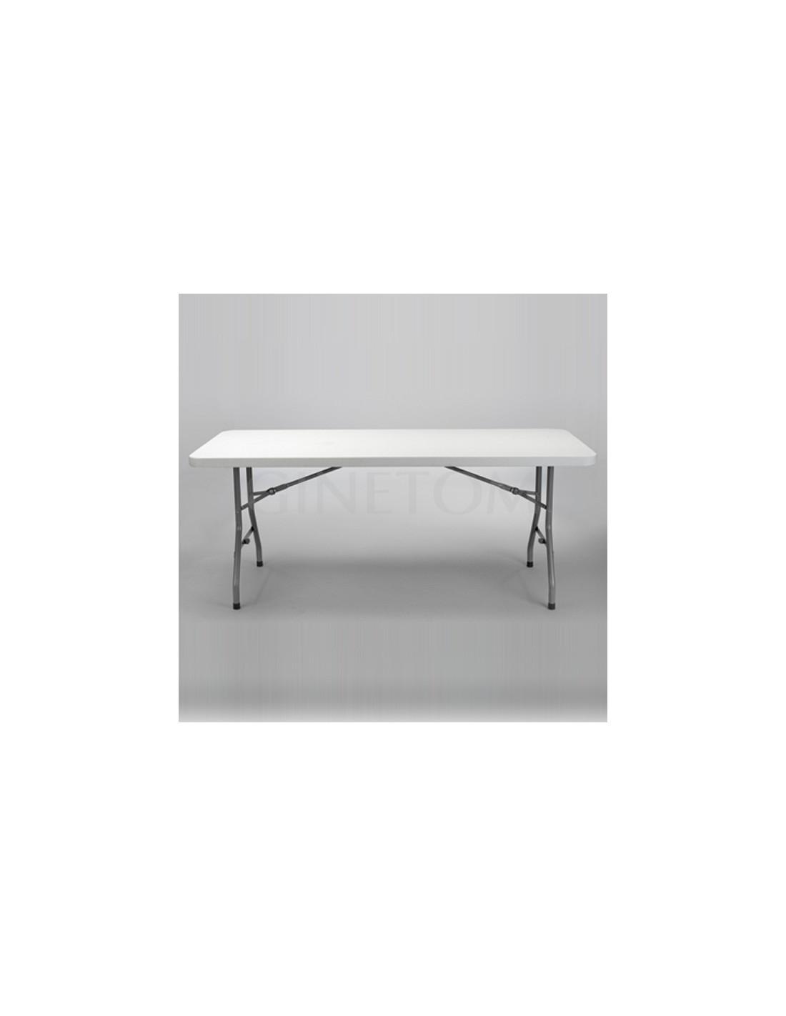 Mesas para catering rectangular ocho comensales for Mesa 2 metros comensales