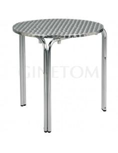 Mesa Hosteleria Aluminio Redonda