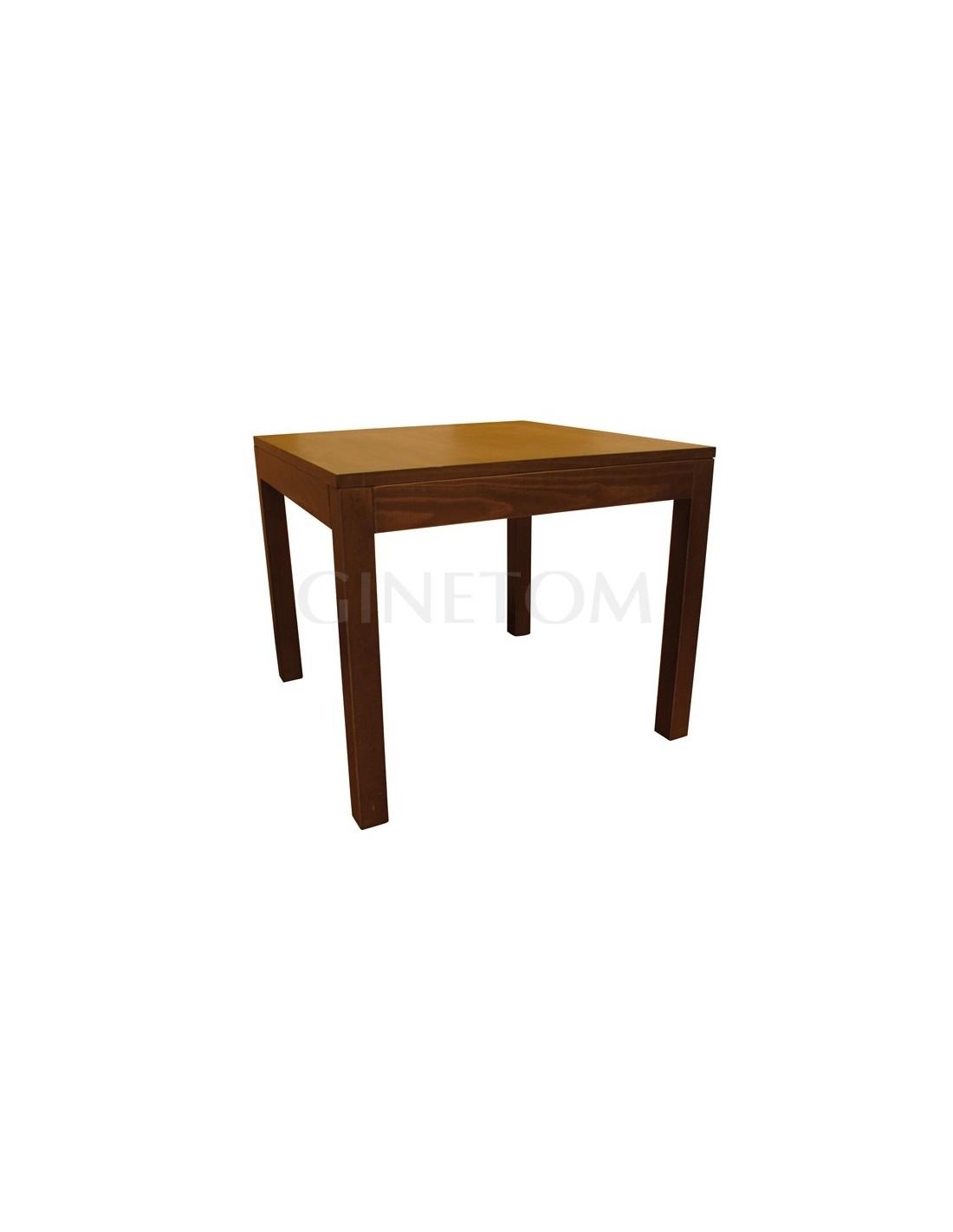 Mesas de madera vertice ref 710 mesas hosteler a ginetom for Mesas madera hosteleria