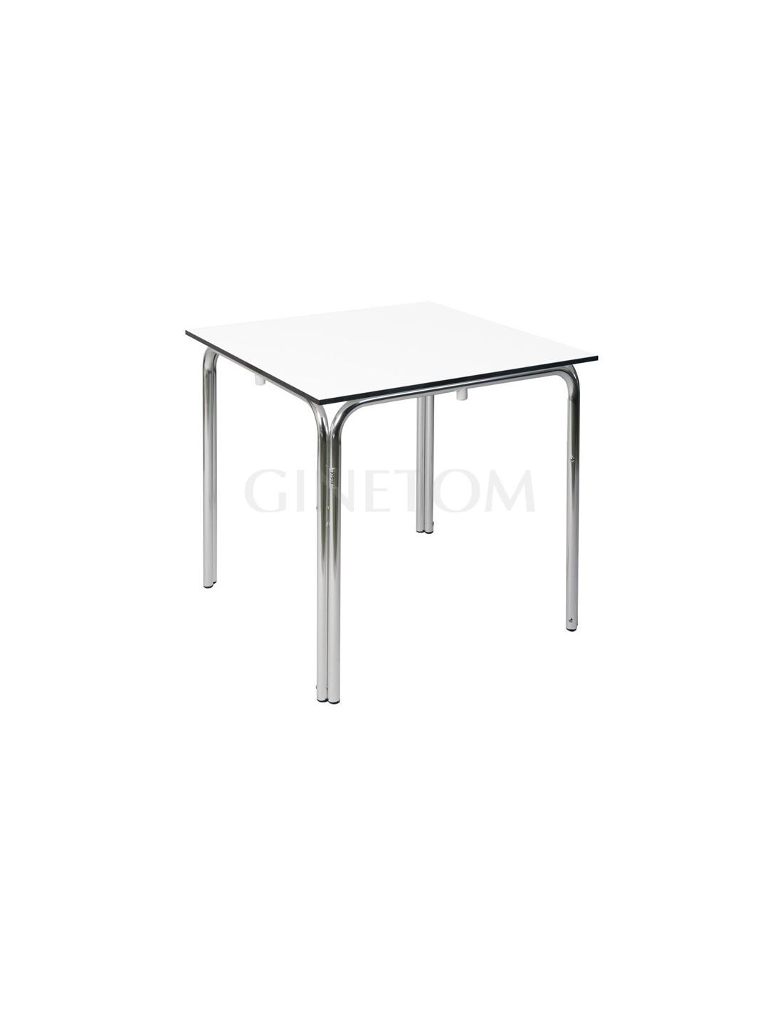 Mesas de aluminio para terraza hosteler a cuadrada - Mesas para hosteleria ...
