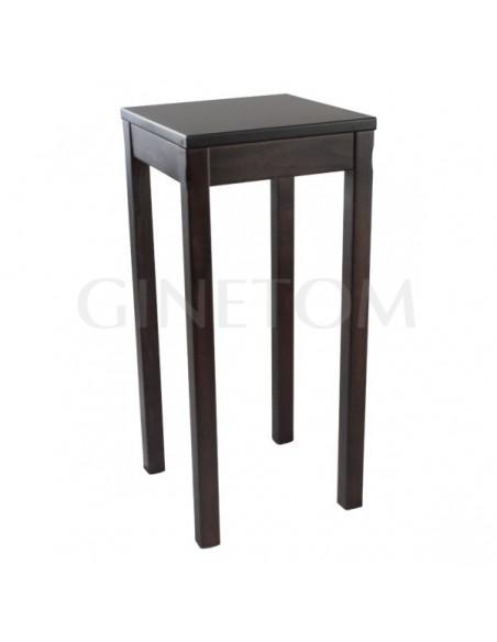 Mesa alta de madera ref 726 vertice con las patas a las orillas para bares y restaurantes