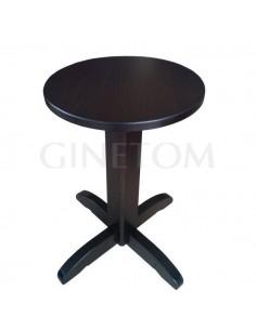 Mesa de madera pie central liso para hosteleria