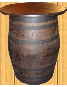 Barrica de madera tapa 80 cm